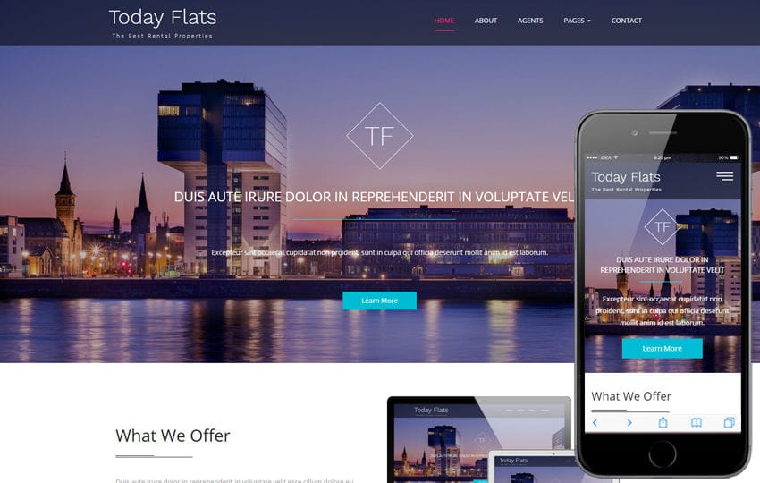 Today Flats a Real Estate Category Flat Bootstrap Responsive Web Template Mobile website template Free