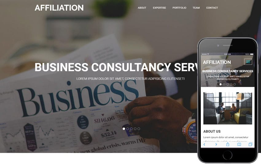Affiliation a Corporate Business Flat Bootstrap Responsive Web Template Mobile website template Free