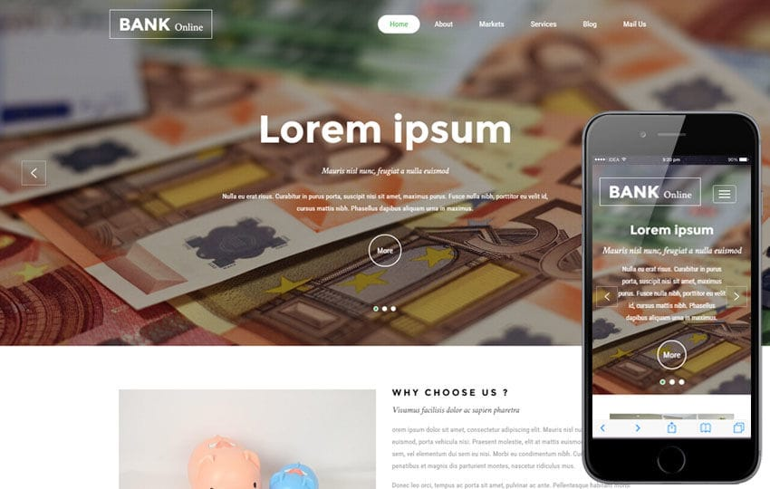 Bank Online a Banking Category Bootstrap Responsive Web Template on xhtml templates, visual basic templates, joomla templates, flash templates, sql templates, php templates, books templates, html templates, see templates, swish templates, asp.net templates, style sheet templates,