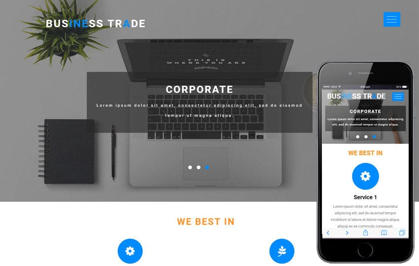 Business Trade a Corporate Business Flat Bootstrap Responsive Web Template Mobile website template Free