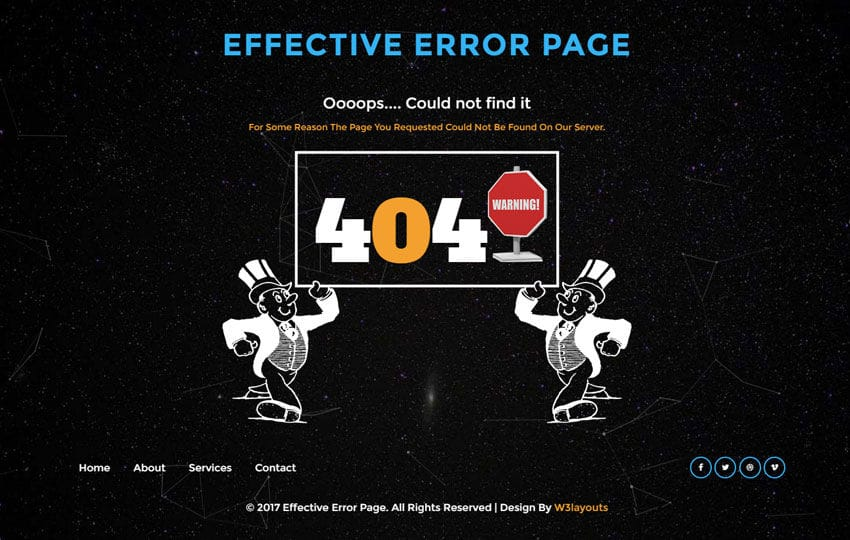 Effective Error Page Flat Responsive Widget Template Mobile website template Free