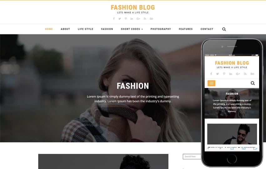 Fashion Blog a Blogging Flat Bootstrap Responsive Web Template Mobile website template Free