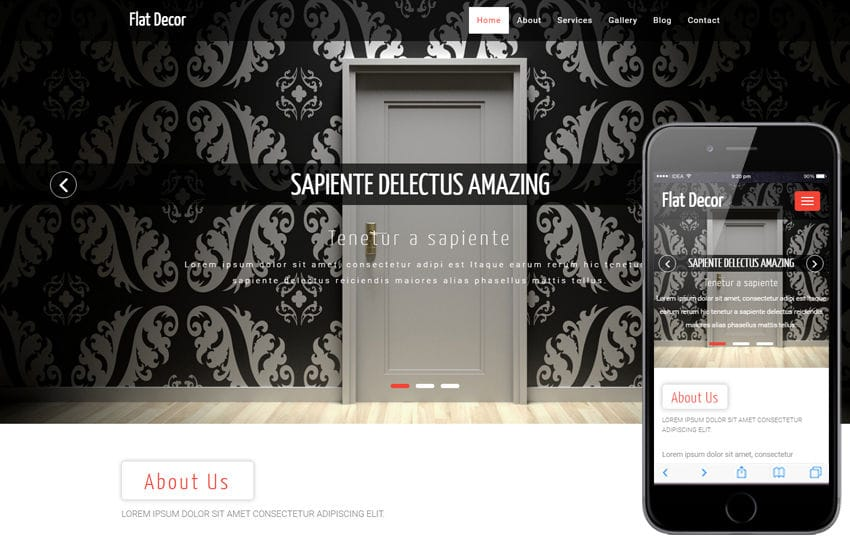 Flat Decor an Interior and Furniture Bootstrap Responsive Web Template Mobile website template Free