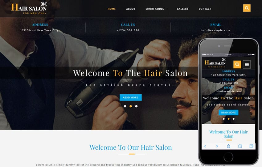 Hair Salon a Beauty and spa Flat Bootstrap Responsive Web Template Mobile website template Free