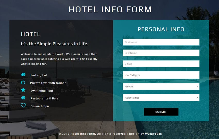 personal information forms templates