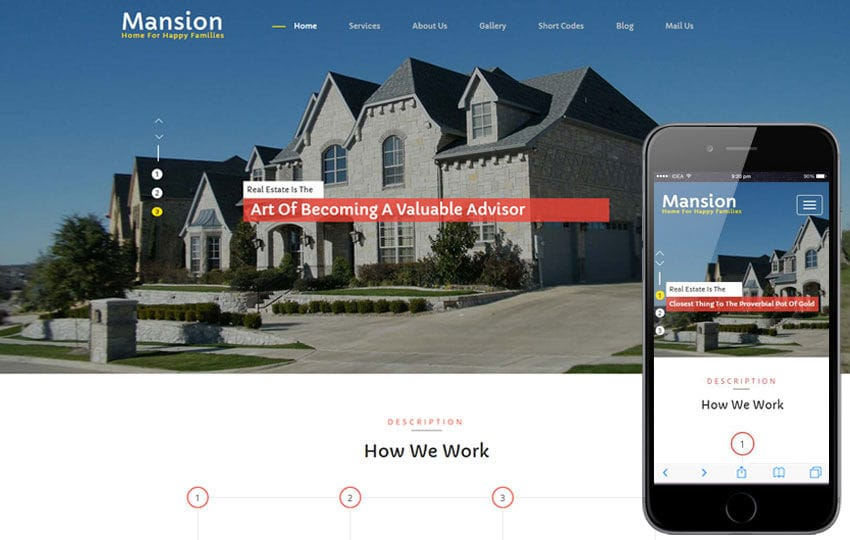 Mansion a Real Estate Category Flat Bootstrap Responsive Web Template Mobile website template Free