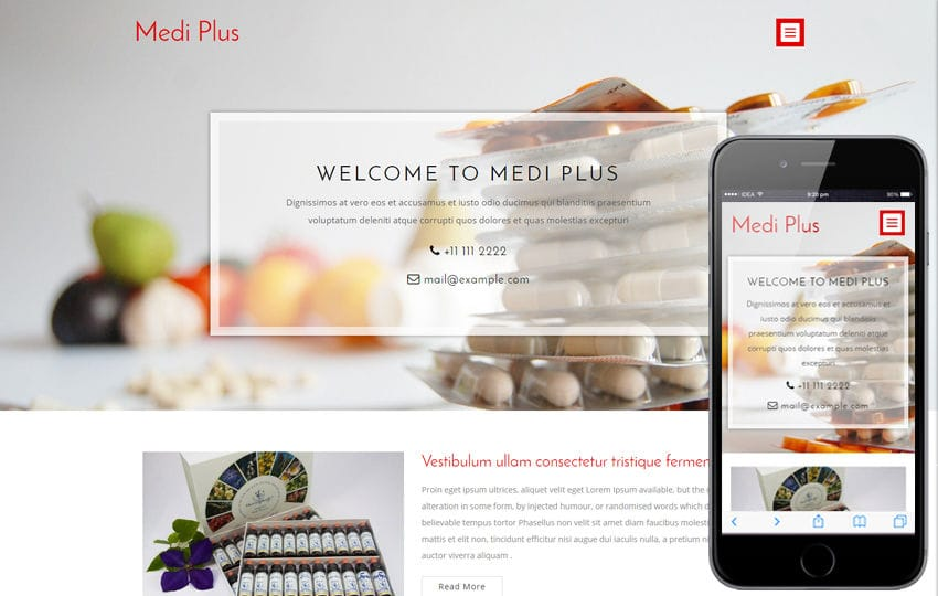 Medi Plus a Medical Category Flat Bootstrap Responsive Web Template Mobile website template Free