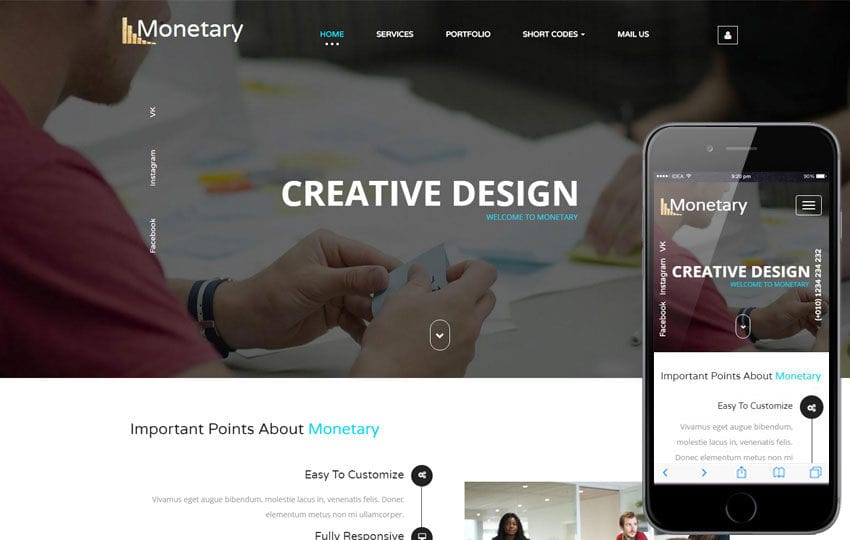 Monetary a Corporate Business Category Flat Bootstrap Responsive Web Template Mobile website template Free