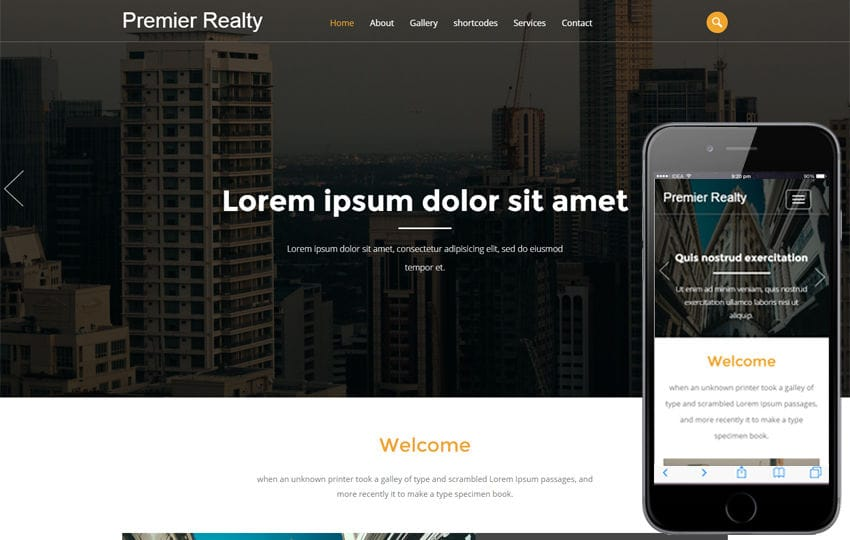 Premier Realty a Real Estate Category Flat Bootstrap Responsive Web Template Mobile website template Free