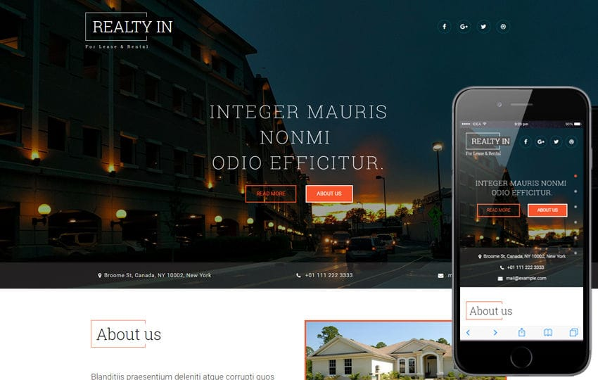 Realty In a Real Estates and Builders Category Bootstrap Responsive Web Template Mobile website template Free