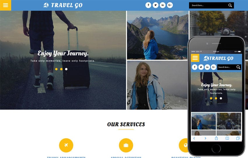 Travel Go a Travel Category Flat Bootstrap Responsive Web Template Mobile website template Free