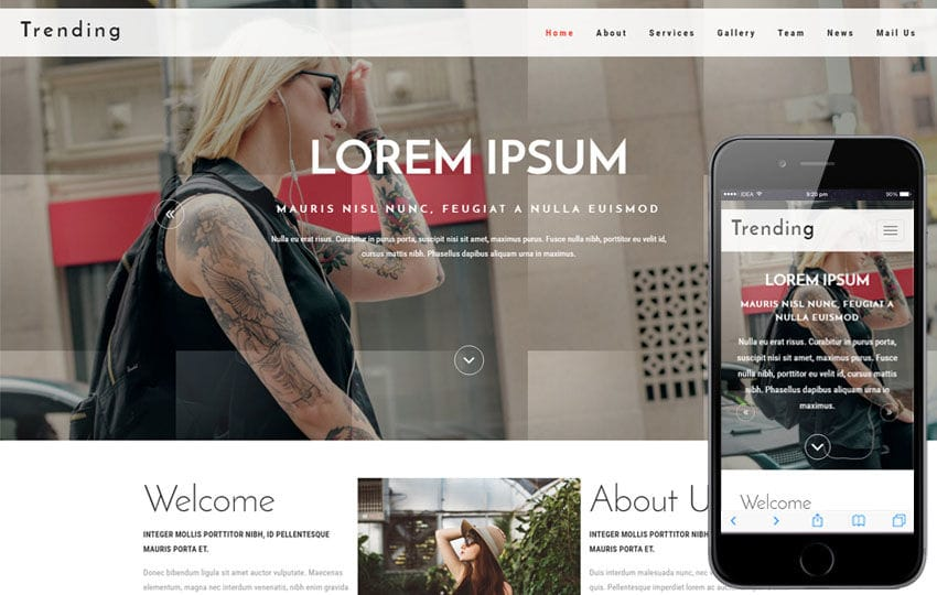 Trending A Fashion Category Bootstrap Responsive Web Template Mobile Website Free