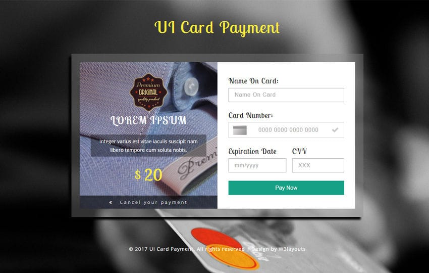 Finance in a banking category bootstrap responsive web template ui card payment flat responsive widget template mobile website template free reheart Images