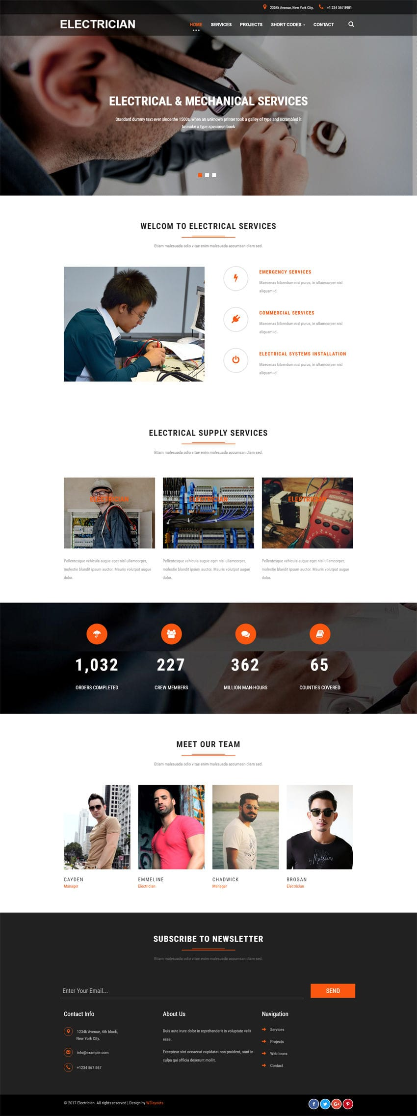 electrician an industrial category bootstrap responsive web template. Black Bedroom Furniture Sets. Home Design Ideas