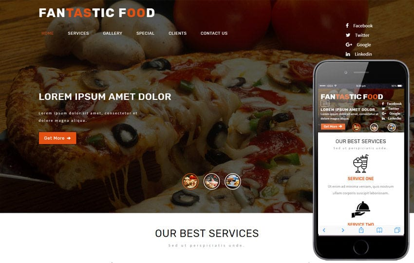 Fantastic Hotels and Restaurants Flat Bootstrap Responsive WebTemplate Mobile website template Free