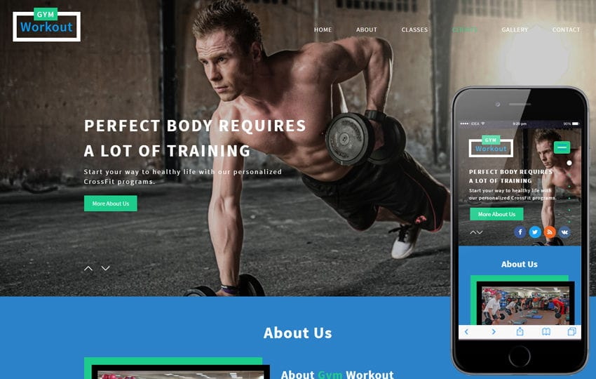 Gym Workout a Sports Category Flat Bootstrap Responsive Web Template Mobile website template Free