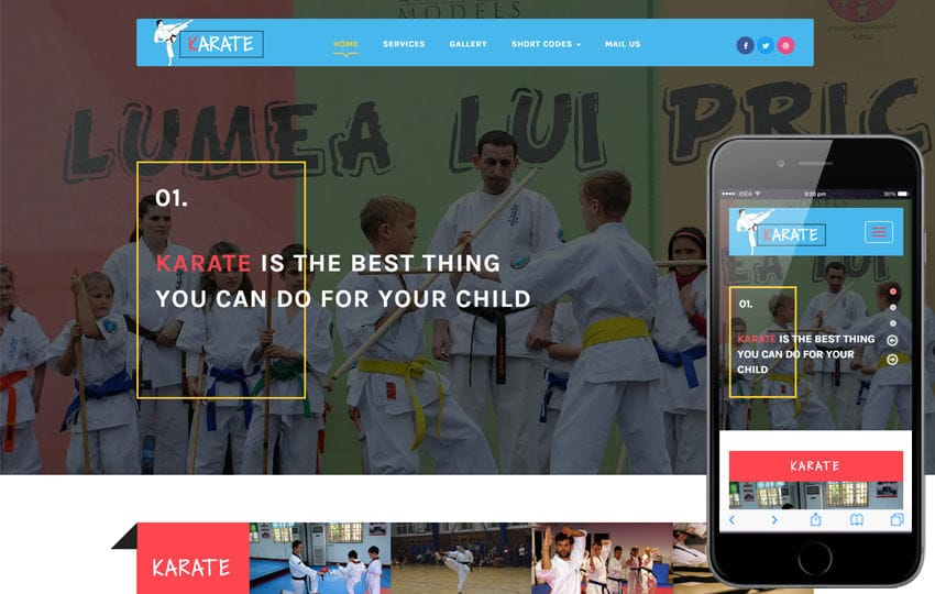 Karate a Sports Category Flat Bootstrap Responsive Web Template Mobile website template Free