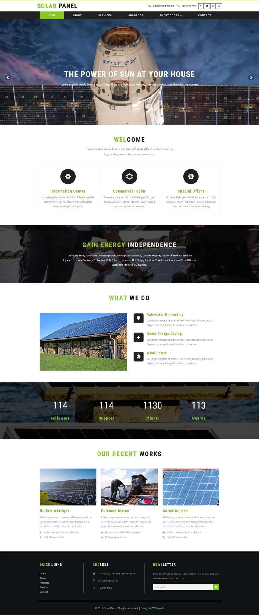 solar panel an industrial category bootstrap responsive web template. Black Bedroom Furniture Sets. Home Design Ideas