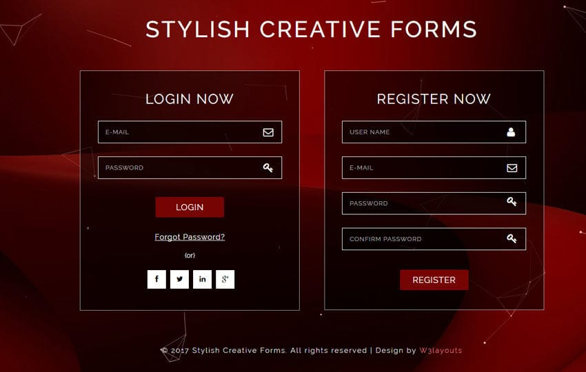 Stylish Creative Forms Flat Responsive Widget Template Mobile website template Free