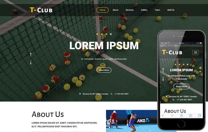 T club a Sports Category Flat Bootstrap Responsive Web Template Mobile website template Free