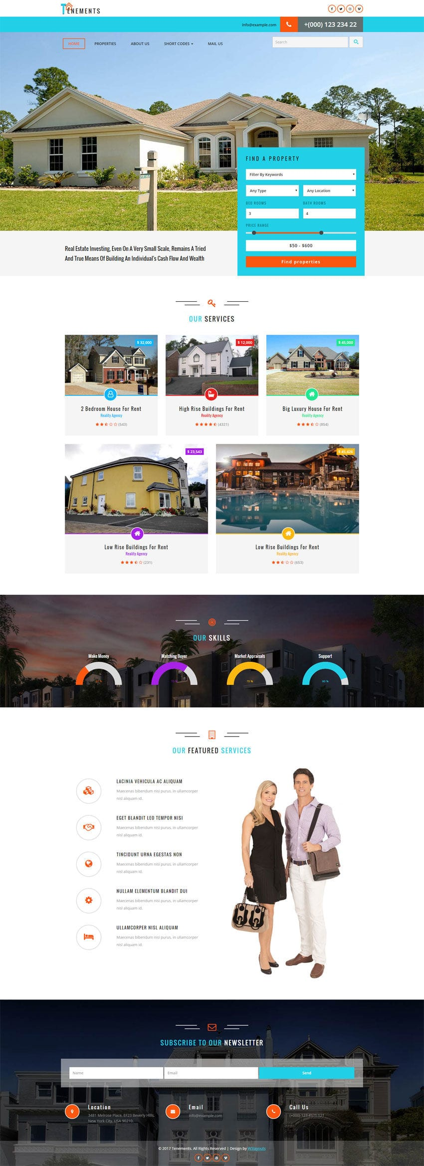 tenements a real estate flat bootstrap responsive web template