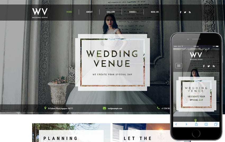 Wedding Venue a Wedding Category Bootstrap Responsive Web Template Mobile website template Free
