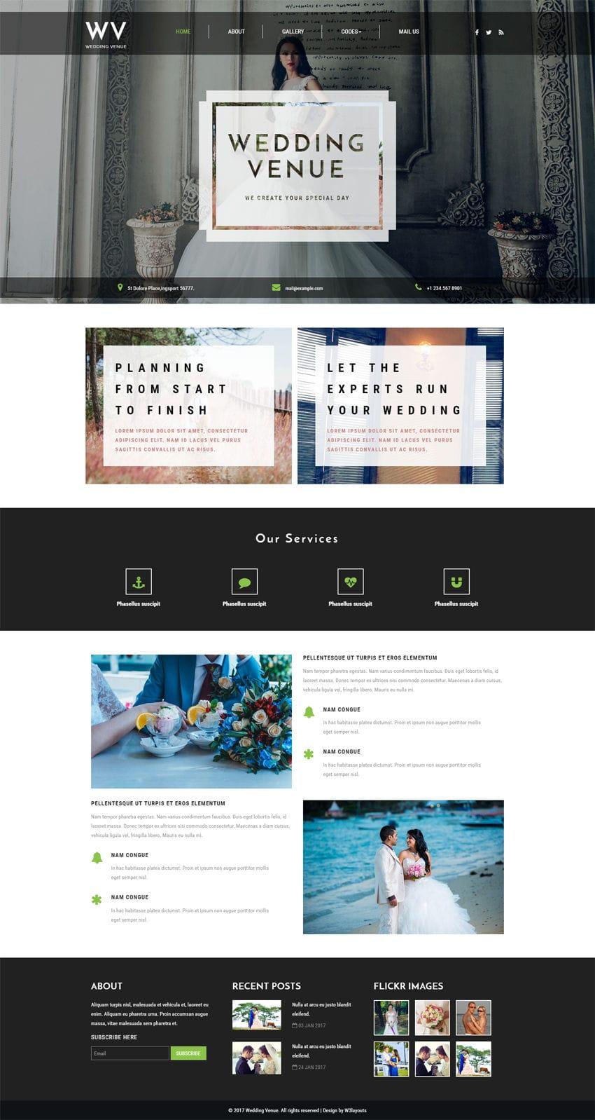 wedding venue a wedding category bootstrap responsive web template. Black Bedroom Furniture Sets. Home Design Ideas