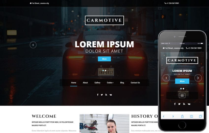 Carmotive an Industrial Category Bootstrap Responsive Web Template Mobile website template Free