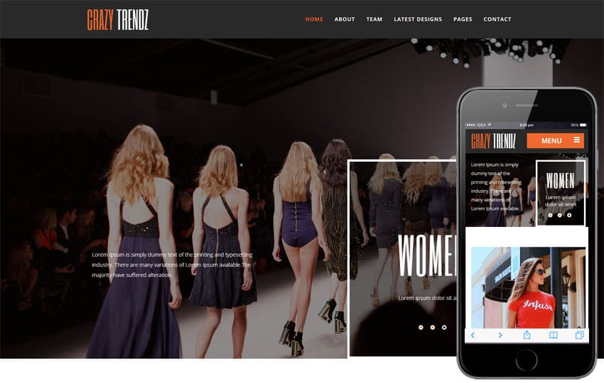 Crazy Trendz a Fashion Category Flat Bootstrap Responsive Web Template Mobile website template Free