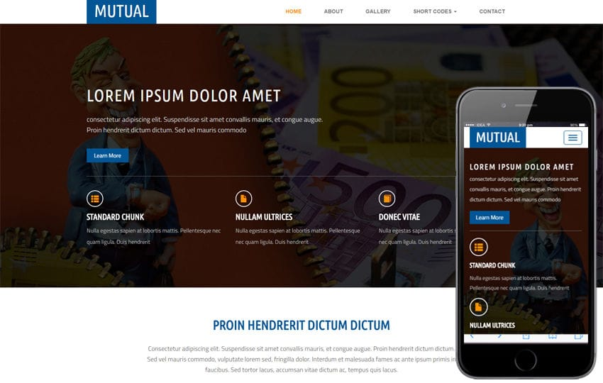 Mutual a Corporate and Business Flat Responsive Web Template Mobile website template Free