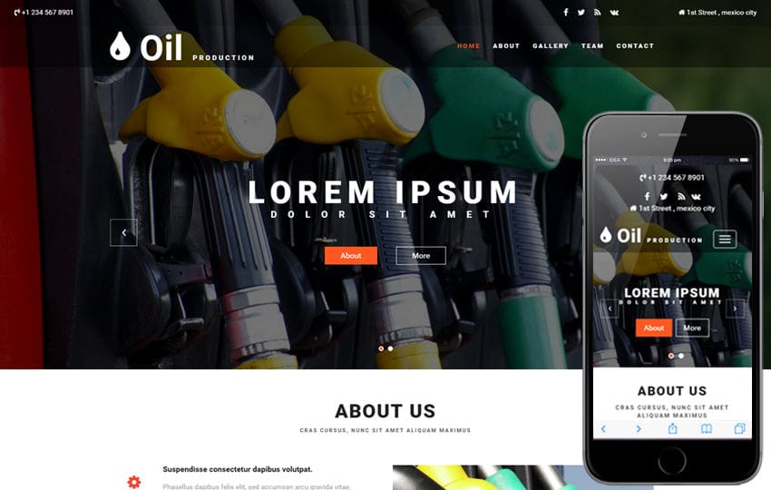 Oil Production an Industrial  Bootstrap Responsive Web Template Mobile website template Free