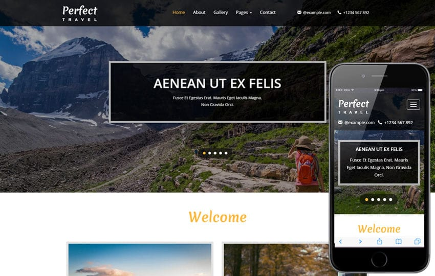 Perfect Travel a Travel Category Bootstrap Responsive Web Template Mobile website template Free
