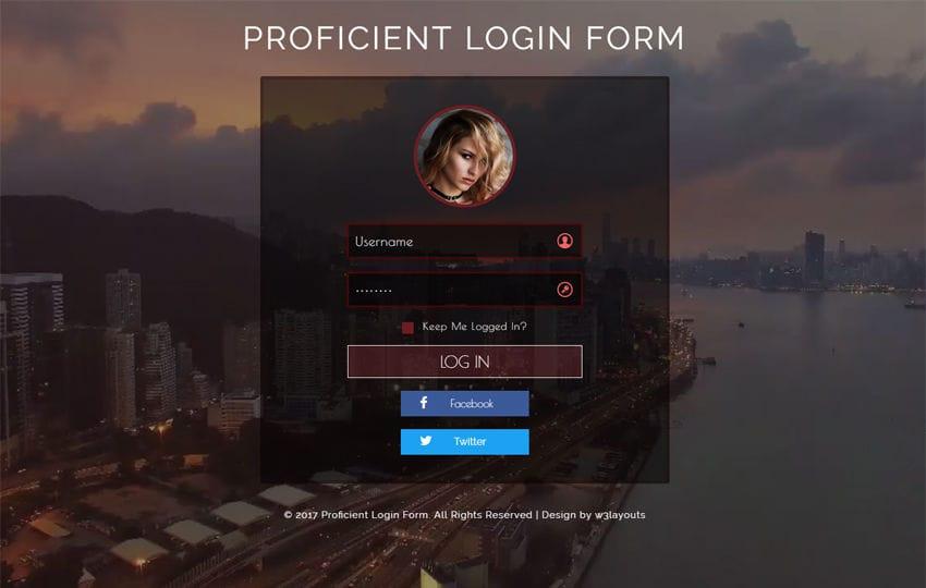Proficient Login Form Flat Responsive Widget Template Mobile website template Free