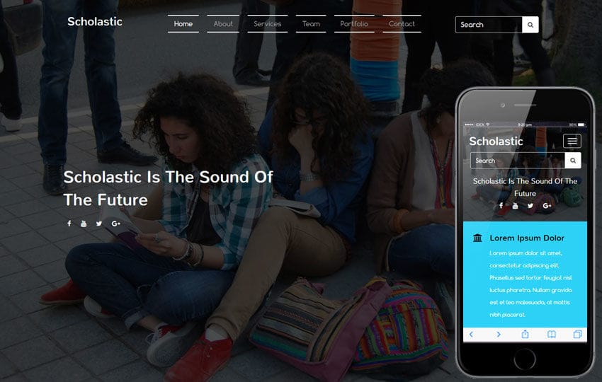 Scholastic an Education Flat Bootstrap Responsive Web Template