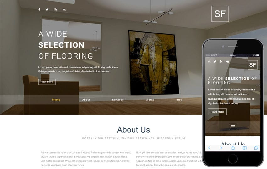 Space Furniture an Interior and Furniture Responsive Web Template Mobile website template Free