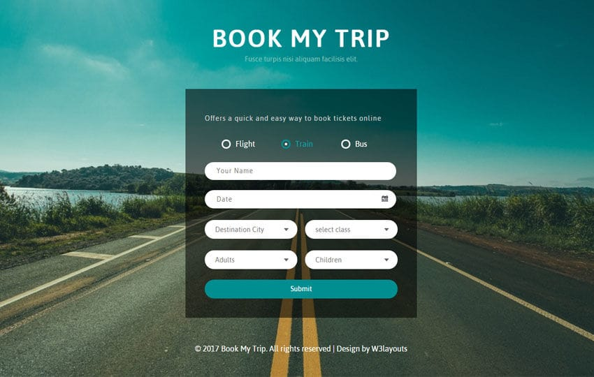 Book My Trip a Flat Responsive Widget Template Mobile website template Free