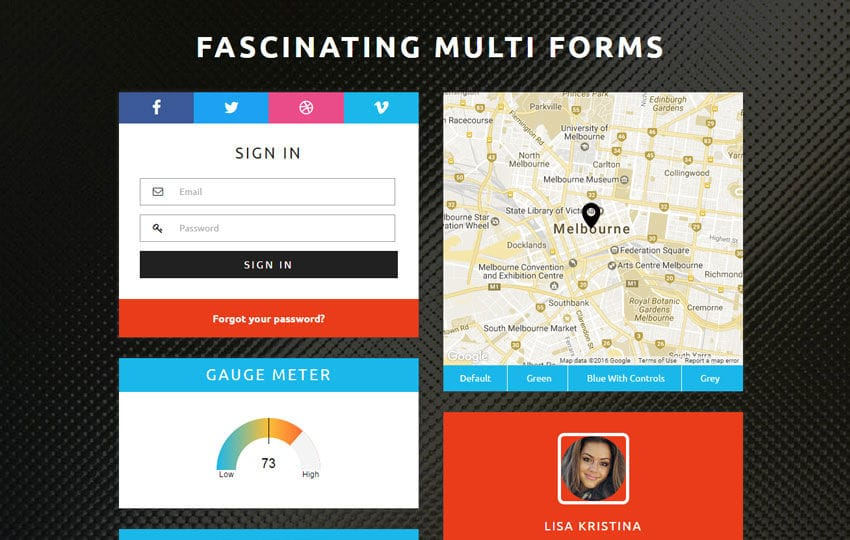 Fascinating Multi Forms Flat Responsive Widget Template Mobile website template Free