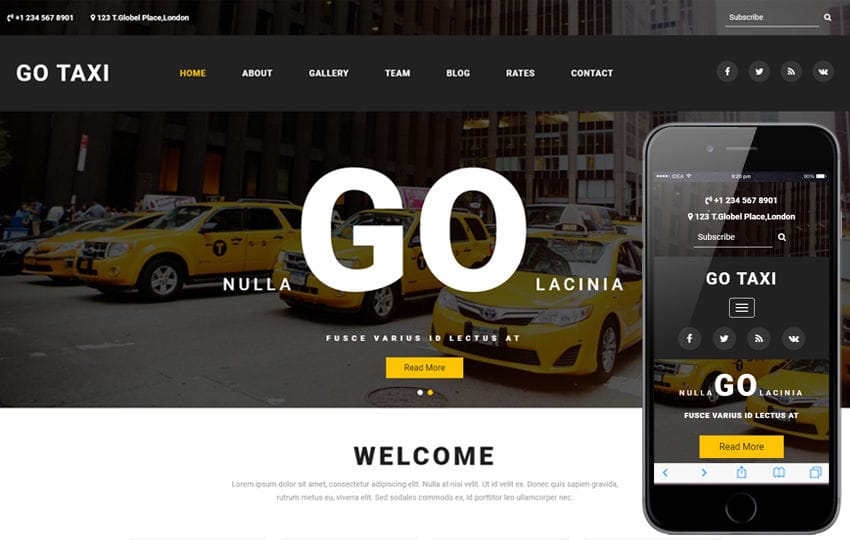 Go Taxi a Travel Category Bootstrap Responsive Web Template Mobile website template Free