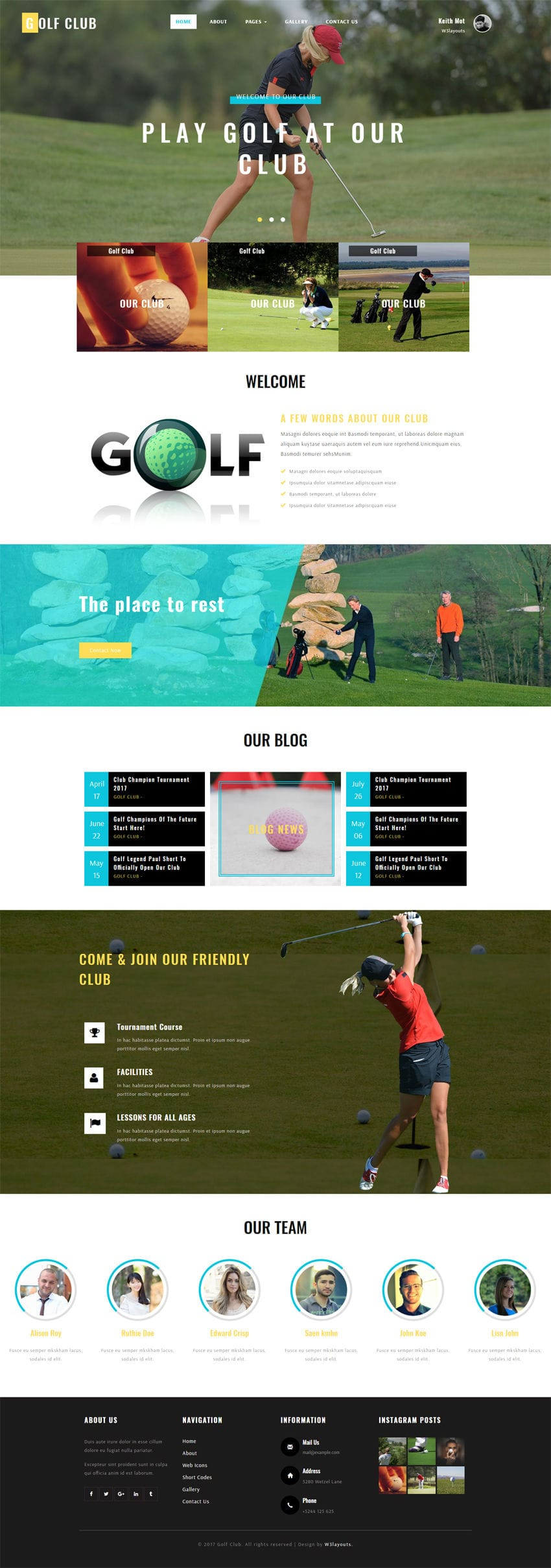 golf club a sports category bootstrap responsive web template. Black Bedroom Furniture Sets. Home Design Ideas