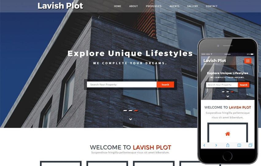 Lavish Plot a Real Estate Category Bootstrap Responsive Web Template Mobile website template Free