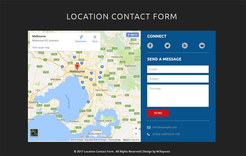 Location Contact Form Flat Responsive Widget Template Mobile website template Free