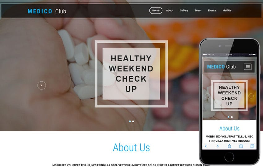 Medico Club a Medical Category Bootstrap Responsive Web Template Mobile website template Free