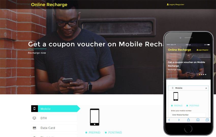 Online Recharge an Online Bill Payments Bootstrap Responsive Template