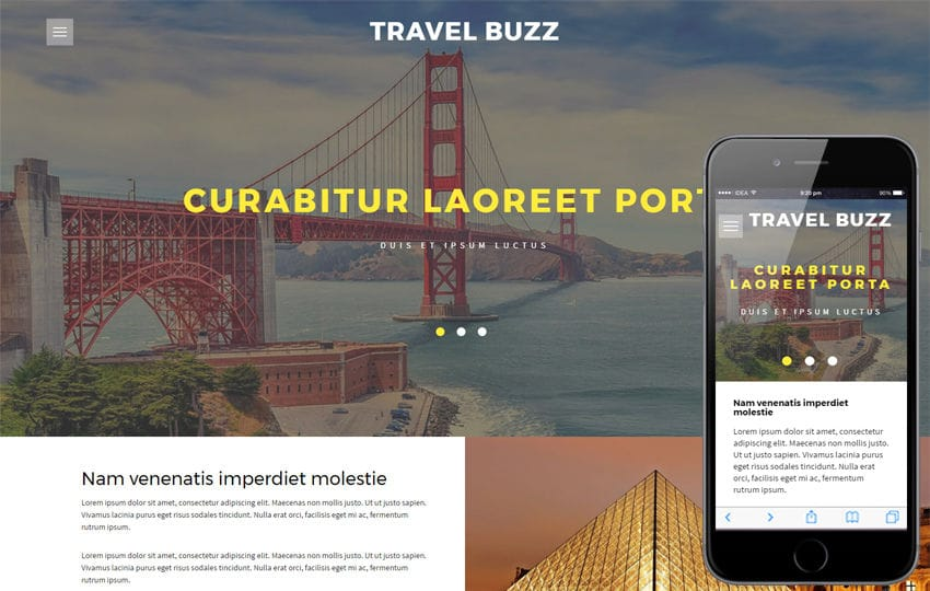 Travel Buzz a Travel Category Flat Bootstrap Responsive Web Template Mobile website template Free