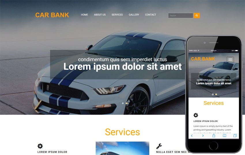 Car Bank an Automobile Category Bootstrap Responsive Web Template Mobile website template Free