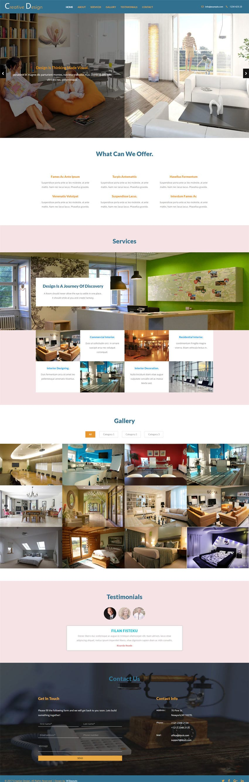 Creative design an interior category bootstrap responsive for Interior design responsive website templates edge free download