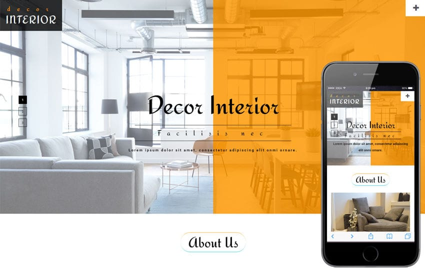 Decor Interior an Interior & Furniture Bootstrap Responsive Web Template Mobile website template Free