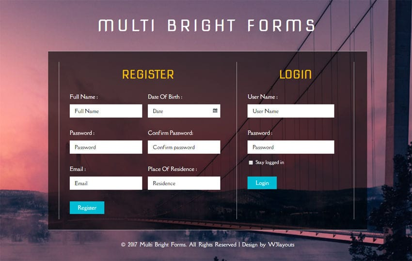 Multi Bright Forms a Flat Responsive Widget Template Mobile website template Free