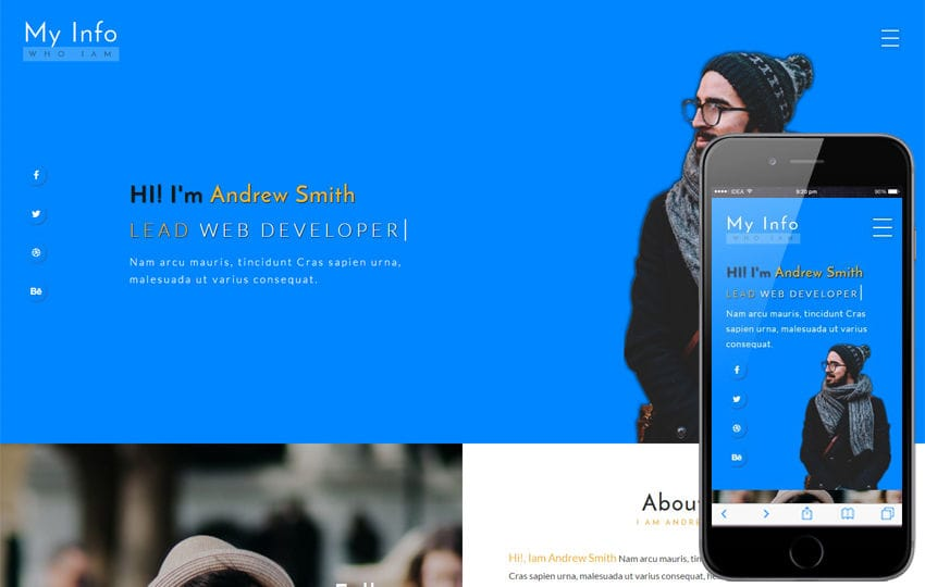 My Info a Personal Category Bootstrap Responsive Web Template