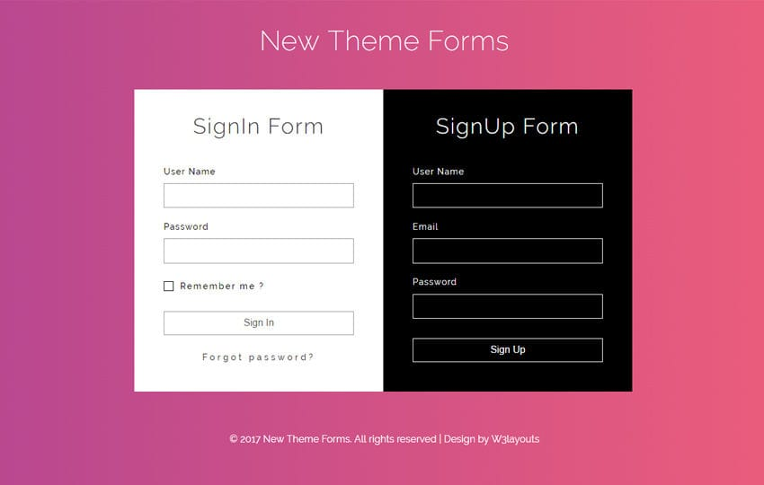 New Theme Forms a Flat Responsive Widget Template Mobile website template Free